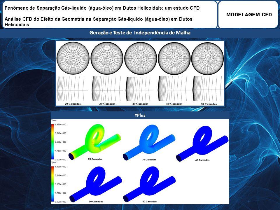 MODELAGEM CFD Fenômeno de Separação Gás-líquido (água-óleo) em Dutos Helicoidais: um estudo CFD Análise CFD do Efeito da Geometria na Separação Gás-lí
