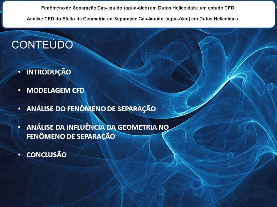 Fenômeno de Separação Gás-líquido (água-óleo) em Dutos Helicoidais: um estudo CFD Análise CFD do Efeito da Geometria na Separação Gás-líquido (água-ól