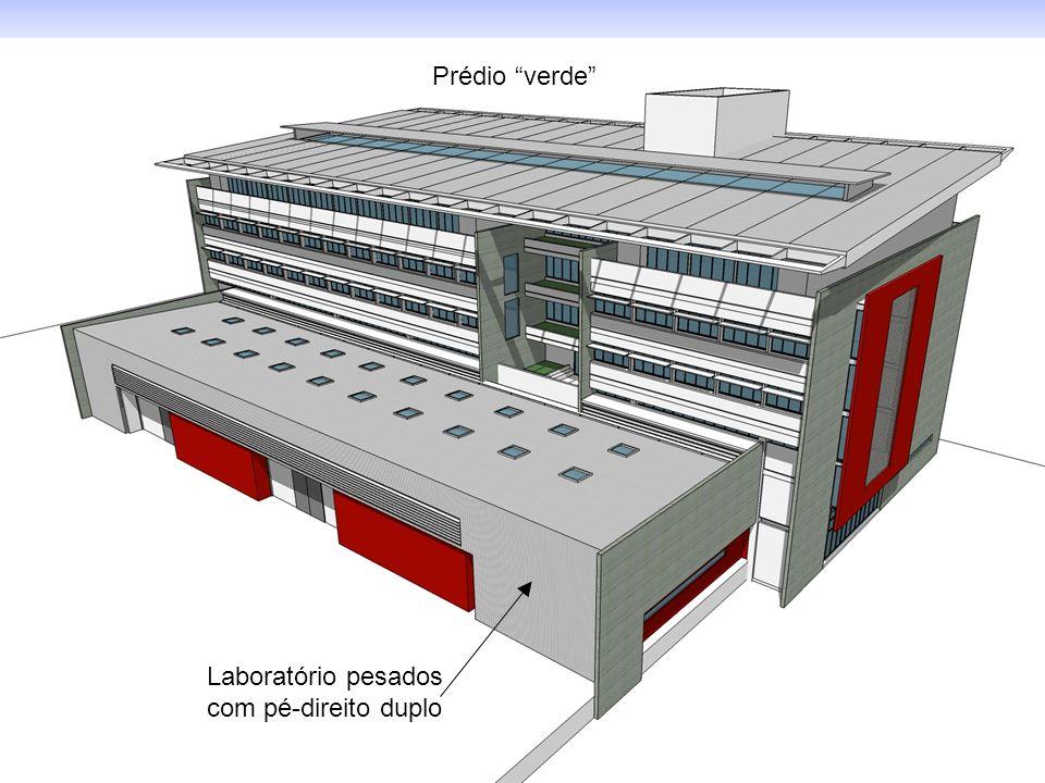 Laboratório pesados com pé-direito duplo Prédio verde