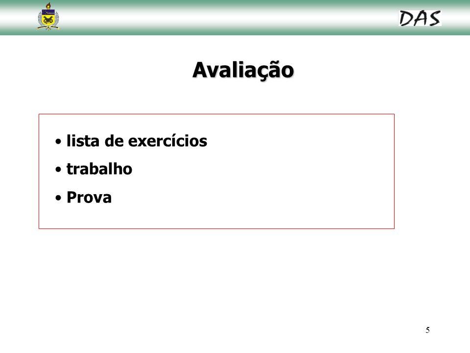 5 Avaliação lista de exercícios trabalho Prova