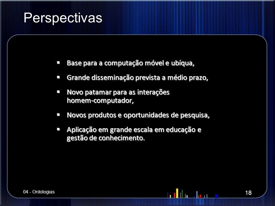 Perspectivas Base para a computação móvel e ubíqua, Base para a computação móvel e ubíqua, Grande disseminação prevista a médio prazo, Grande dissemin