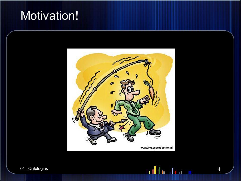 Motivação Noção de ontologia Noção de ontologia Afinal, ontologias pra quê.