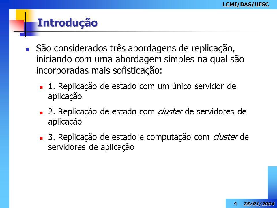 LCMI/DAS/UFSC 28/01/2004 5 Introdução Solução transparente para o middleware.