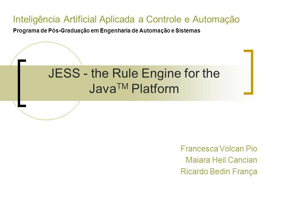 Inteligência Artificial Aplicada a Controle e Automação Programa de Pós-Graduação em Engenharia de Automação e Sistemas Francesca Volcan Pio Maiara He