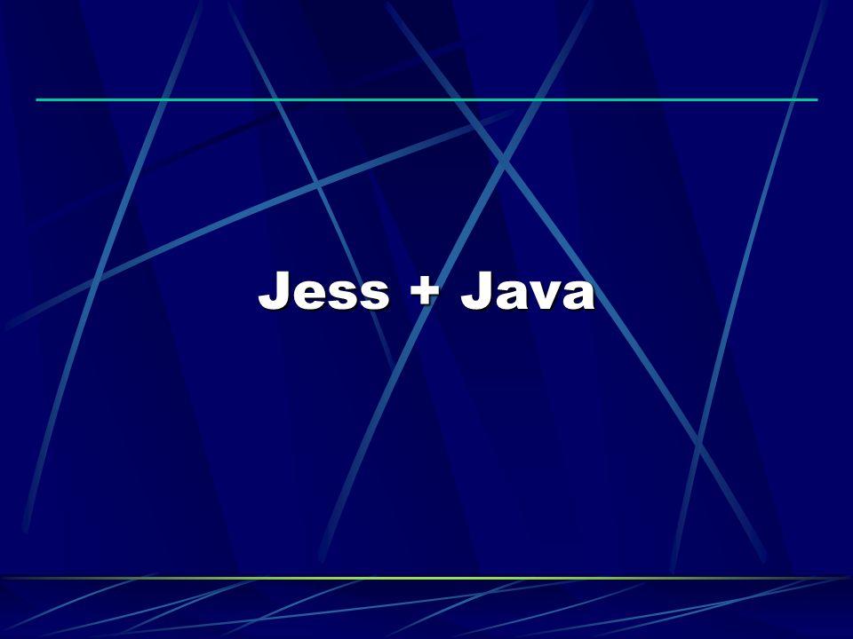 JESS - EXECUTANDO O SHELL Executando: java -classpath jess.jar jess.Main examples/hello.clp java -classpath jess.jar jess.Main Carregando arquivos: (batch examples/hello.clp) Programas externos: (system xlogo &)