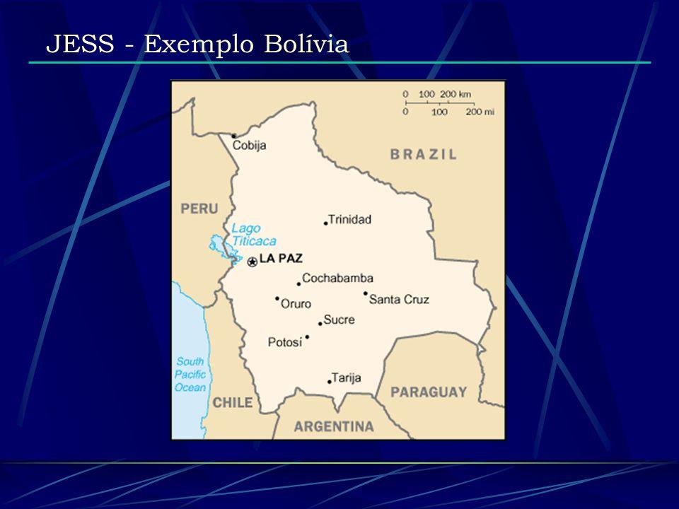 JESS - Exemplo Bolívia (Base de Conhecimento) (assert (regiao planicie) (regiao vales) (regiao altiplano) (cidade Cobija) (cidade Trinidad)...