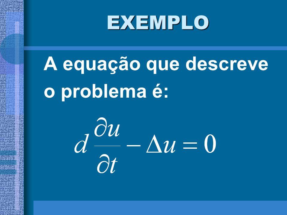 EXEMPLO A equação que descreve o problema é: