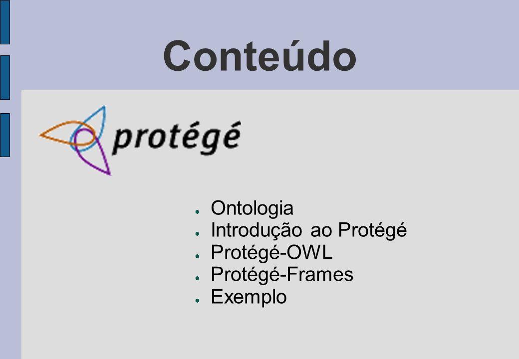 Conteúdo Ontologia Introdução ao Protégé Protégé-OWL Protégé-Frames Exemplo