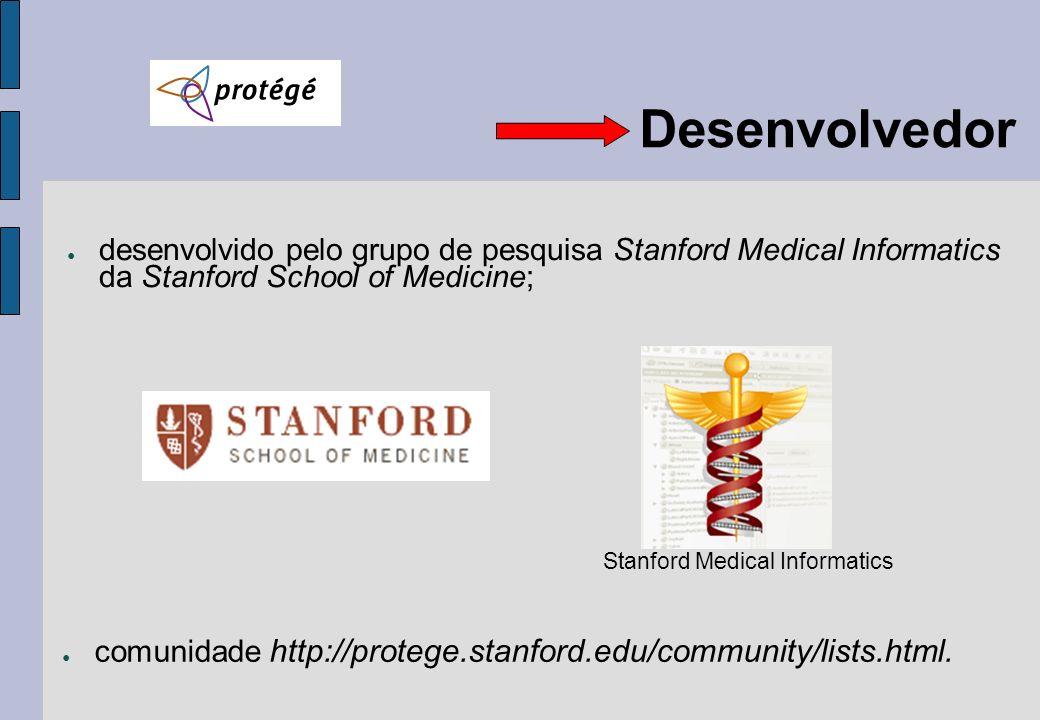 Desenvolvedor desenvolvido pelo grupo de pesquisa Stanford Medical Informatics da Stanford School of Medicine; Stanford Medical Informatics comunidade
