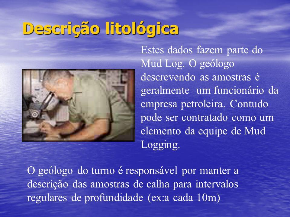 Mud Logging (cont.) -Taxa de Bombeio. (Ás vezes usados strokes/min) -Taxa de Bombeio. (Ás vezes usados strokes/min) -Temperatura de entrada da lama -T