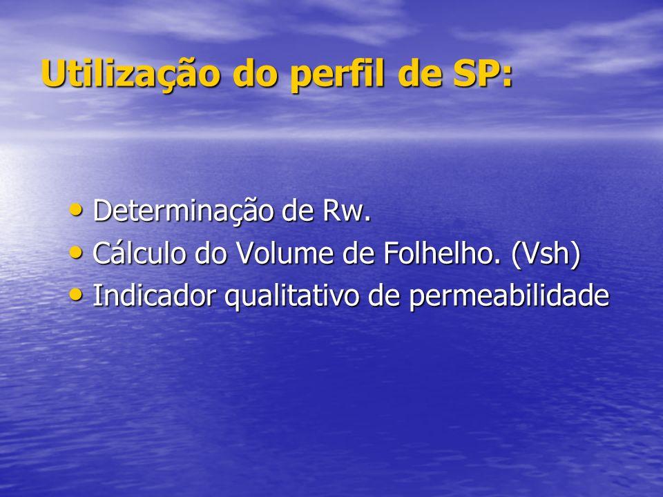 SP – Potencial Espontâneo SP – Potencial Espontâneo O perfil de SP é o registro dos potenciais elétricos que ocorrem naturalmente em um poço em função