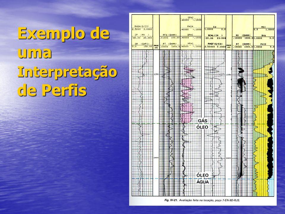 Exemplo perfil Indução/Densidade/Neutrão/GR Dados:Cortesia da Petrobras UN SE-AL