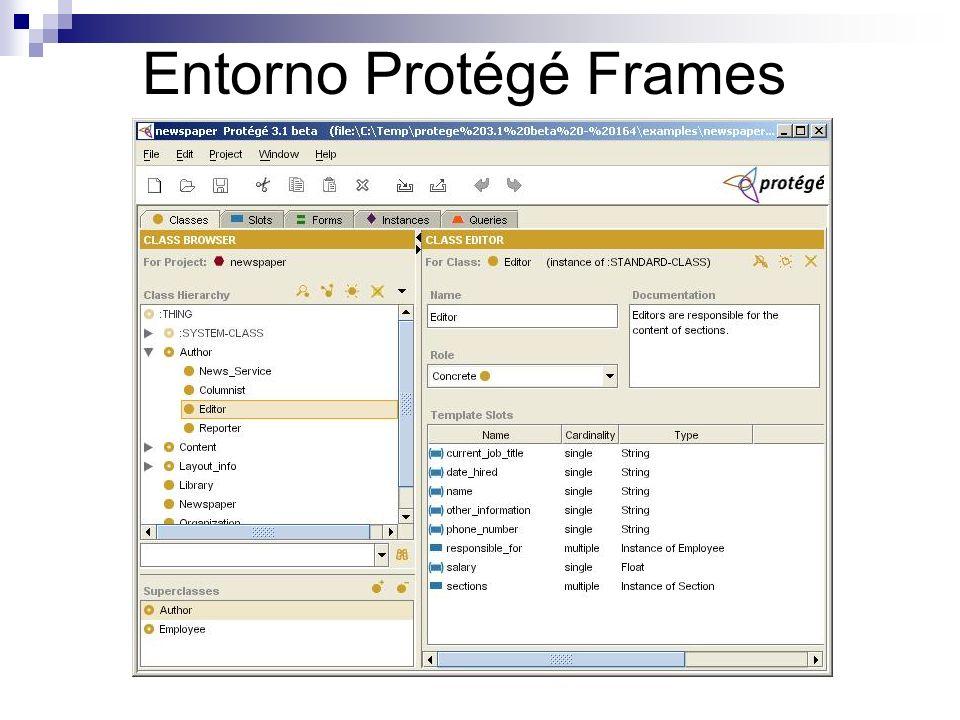 Entorno Protégé Frames