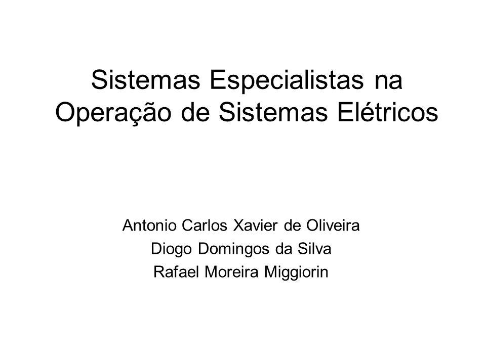 Sistemas Especialistas na Operação de Sistemas Elétricos Antonio Carlos Xavier de Oliveira Diogo Domingos da Silva Rafael Moreira Miggiorin