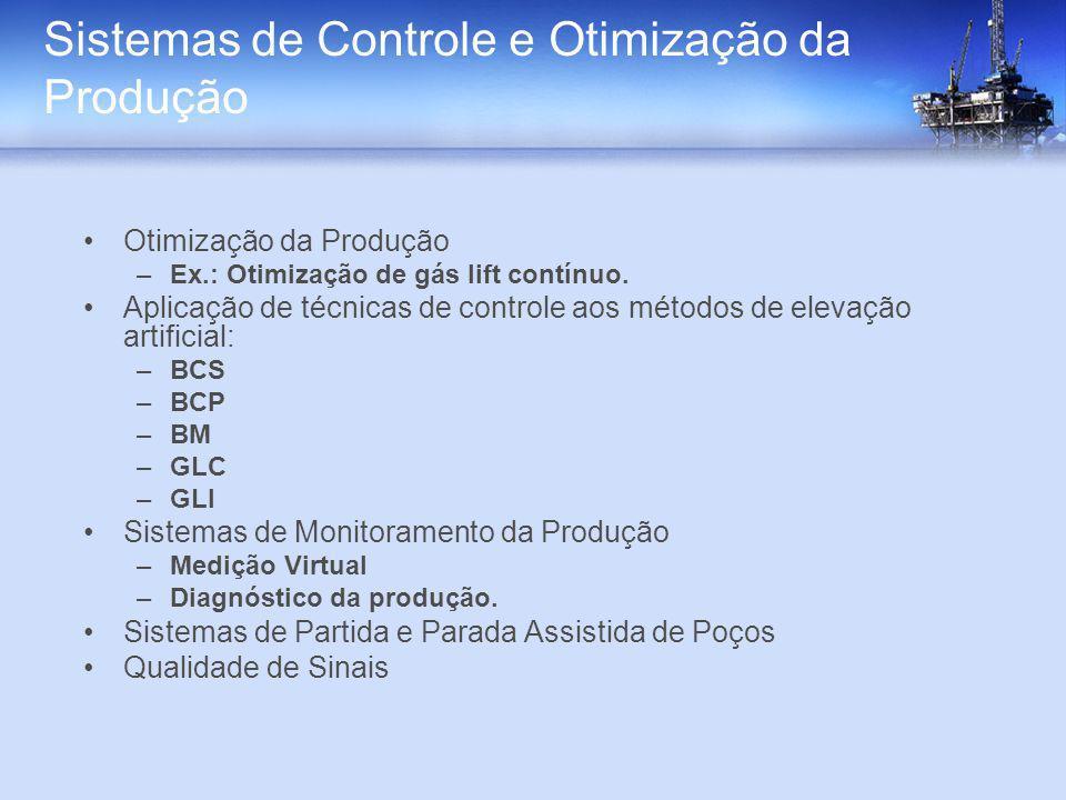 Sistemas de Controle e Otimização da Produção Otimização da Produção –Ex.: Otimização de gás lift contínuo. Aplicação de técnicas de controle aos méto