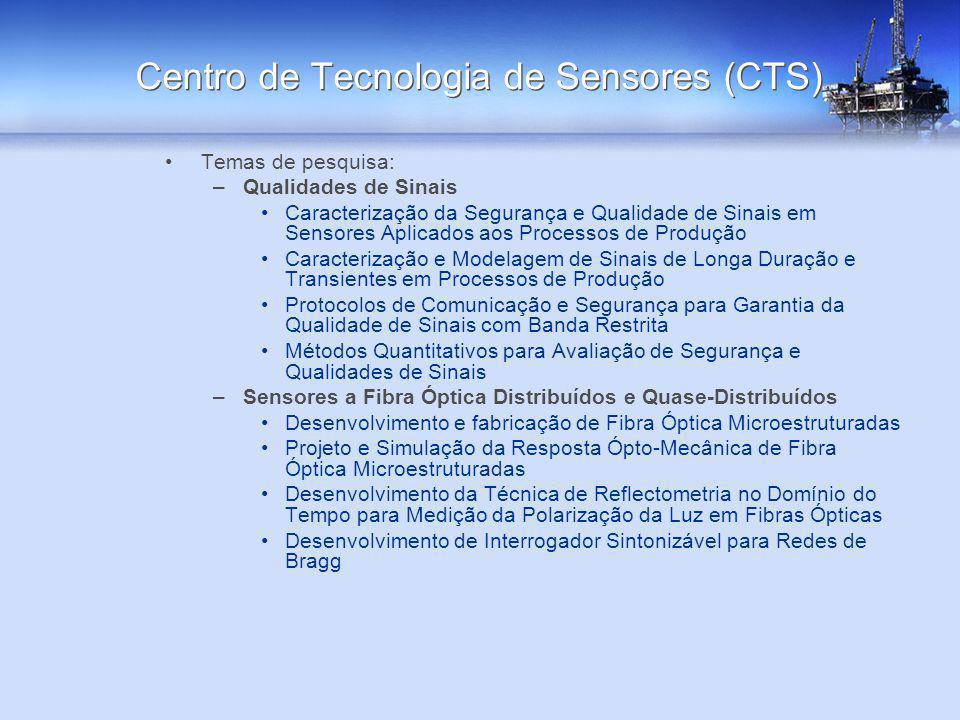 Temas de pesquisa: –Qualidades de Sinais Caracterização da Segurança e Qualidade de Sinais em Sensores Aplicados aos Processos de Produção Caracteriza