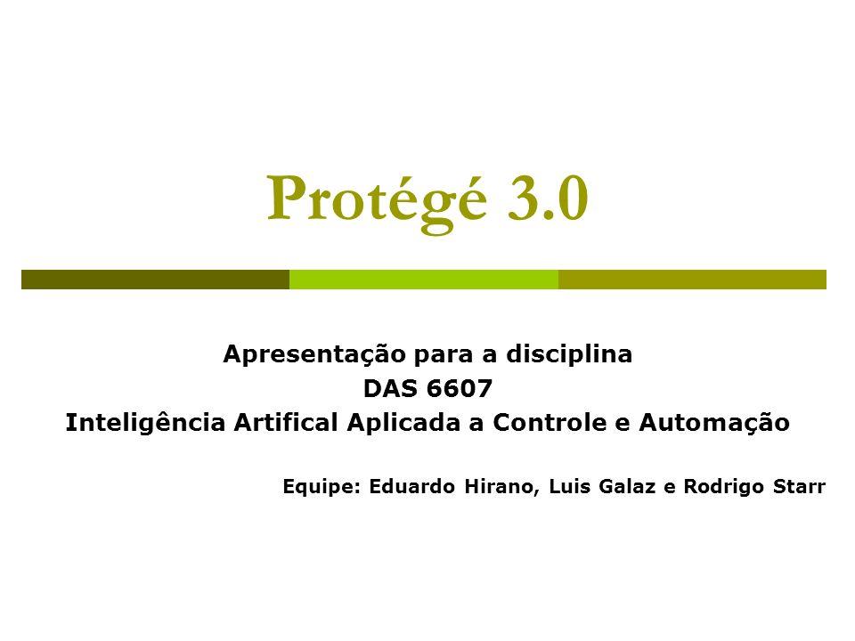 Introdução Ferramentas computacionais utilizadas na aquisição de conhecimento de especialistas: Protégé Apollo OntoEdit Ontolingua