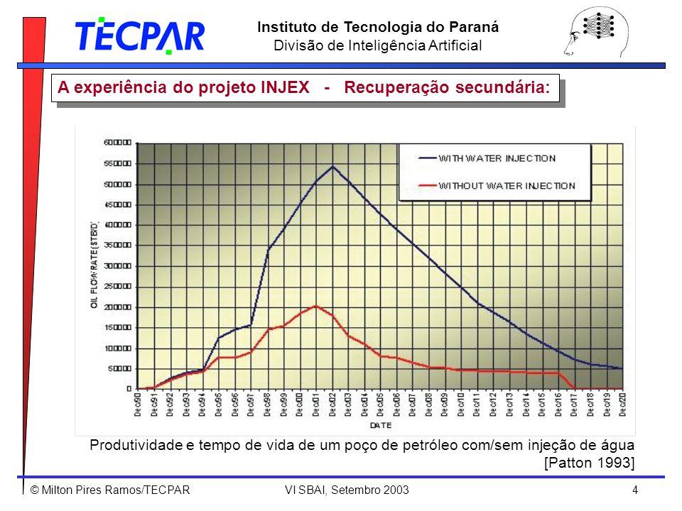© Milton Pires Ramos/TECPAR VI SBAI, Setembro 2003 5 Instituto de Tecnologia do Paraná Divisão de Inteligência Artificial MOTIVAÇÃO: A injeção de água do mar para recuperação de petróleo é uma técnica tradicionalmente empregada na indústria de óleo e gás.