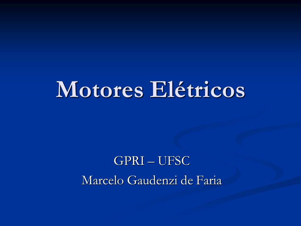 Motores Elétricos GPRI – UFSC Marcelo Gaudenzi de Faria