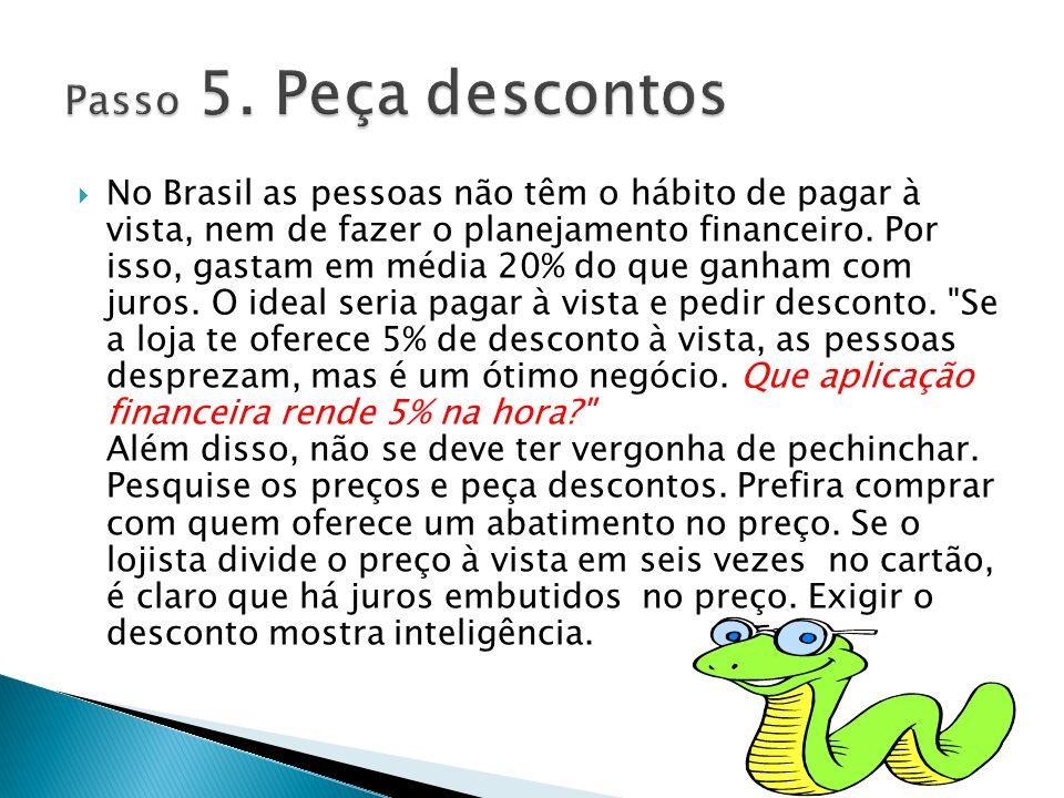 No Brasil as pessoas não têm o hábito de pagar à vista, nem de fazer o planejamento financeiro. Por isso, gastam em média 20% do que ganham com juros.