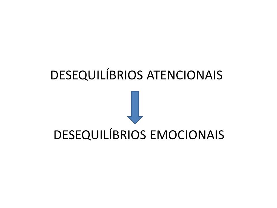 DESEQUILÍBRIOS ATENCIONAIS DESEQUILÍBRIOS EMOCIONAIS