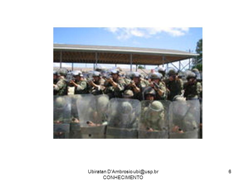 Ubiratan D'Ambrosio ubi@usp.br CONHECIMENTO 6