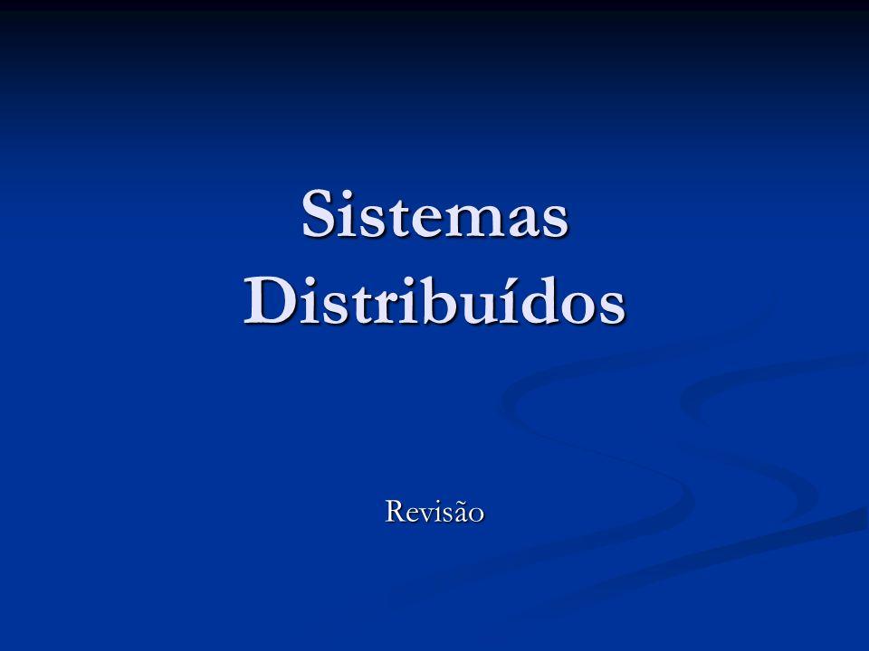 Sistemas Distribuídos Revisão