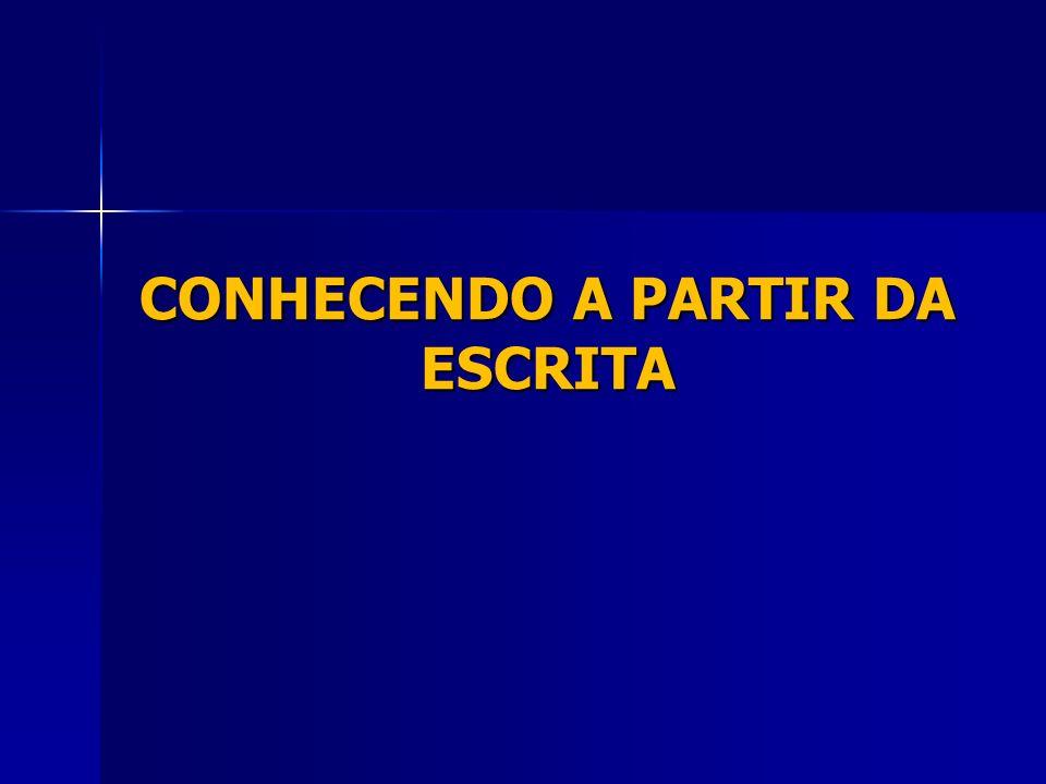 CONHECENDO A PARTIR DA ESCRITA