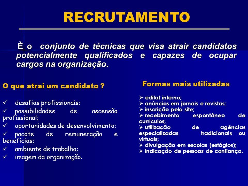 O que atrai um candidato ? desafios profissionais; possibilidades de ascensão profissional; oportunidades de desenvolvimento; pacote de remuneração e