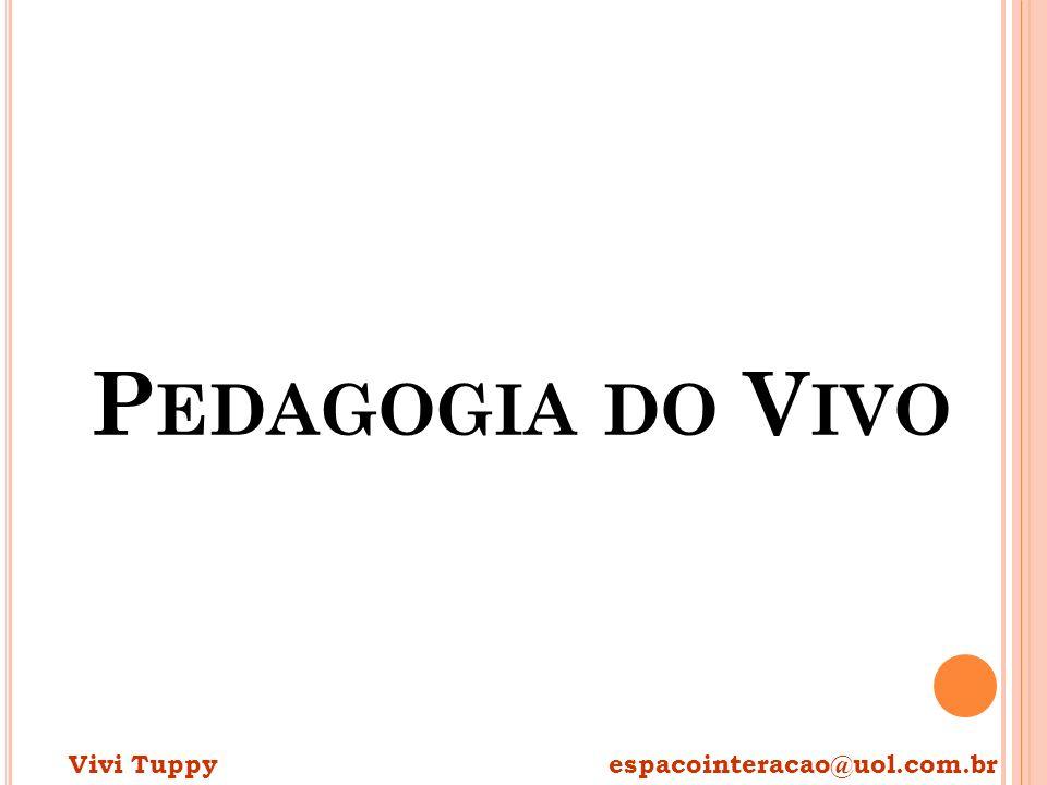 P EDAGOGIA DO V IVO Vivi Tuppy espacointeracao@uol.com.br