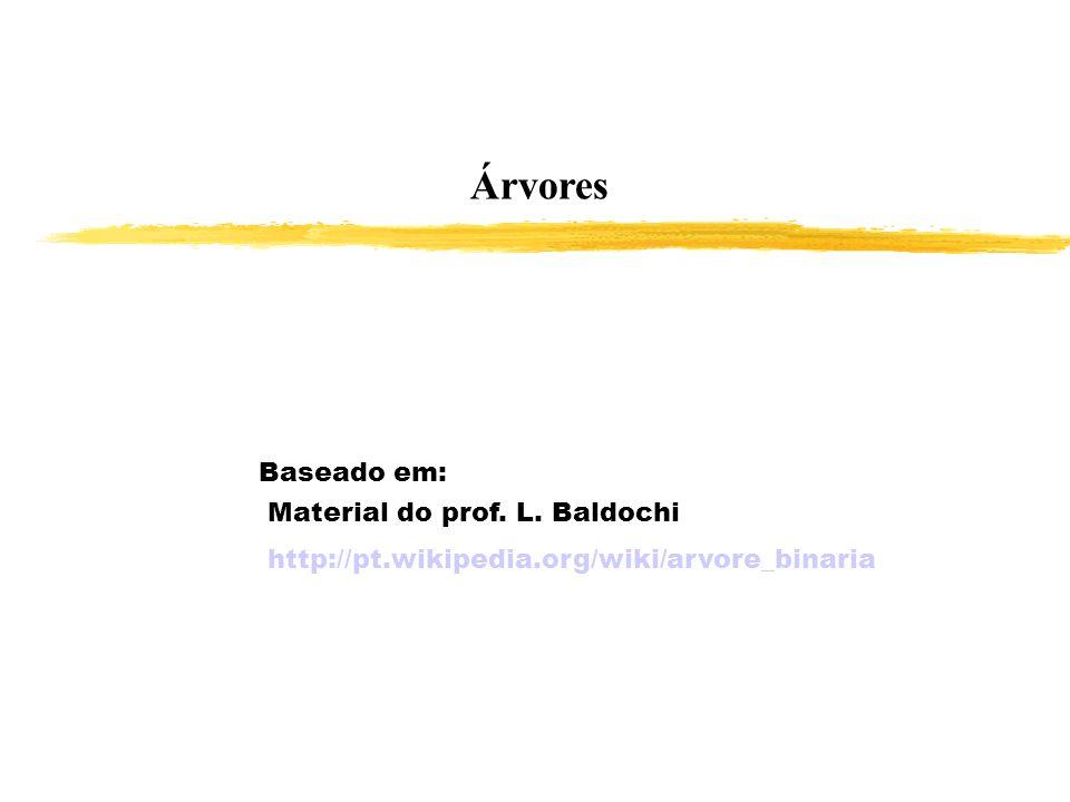 Árvores Baseado em: Material do prof. L. Baldochi http://pt.wikipedia.org/wiki/arvore_binaria