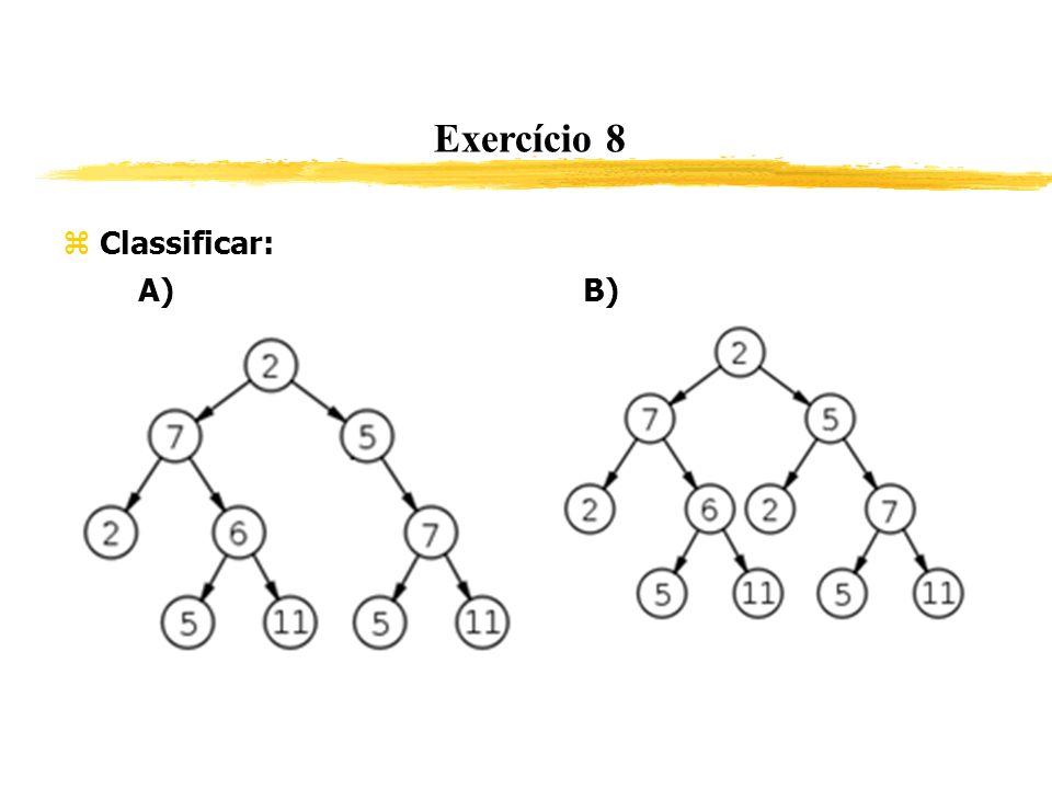 Exercício 8 Classificar: A) B)