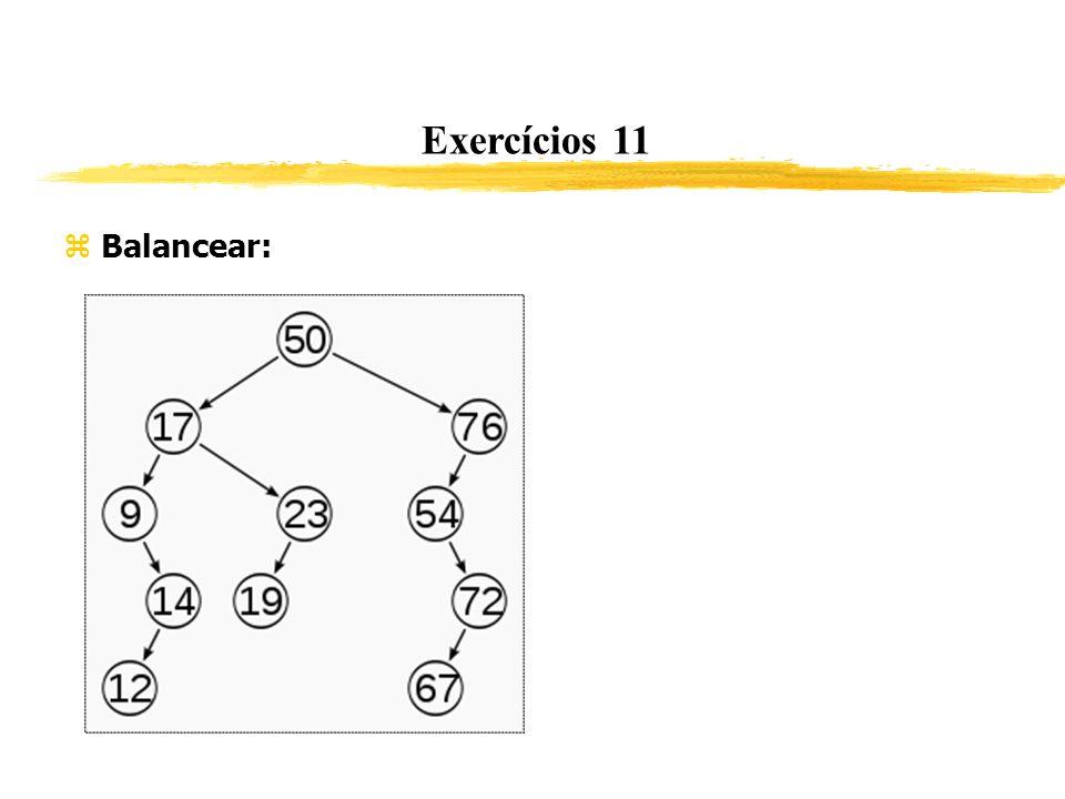 Exercícios 11 Balancear: