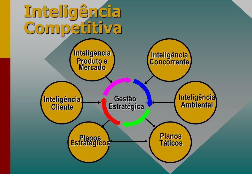 InteligênciaAmbiental InteligênciaCliente PlanosEstratégicos PlanosTáticos InteligênciaConcorrente Inteligência Produto e Mercado Gestão Gestão Estratégica Estratégica Inteligência Competitiva