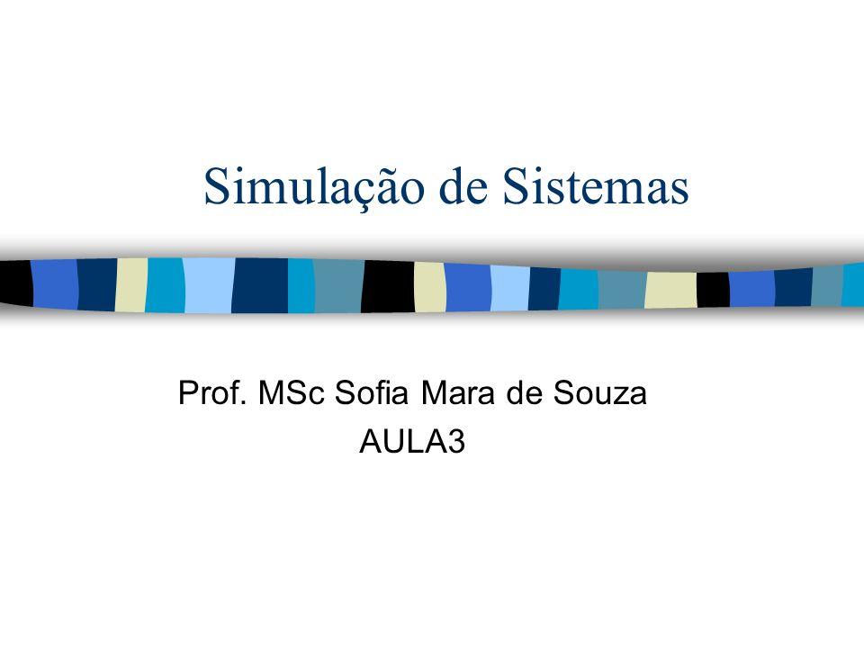 Simulação de Sistemas Prof. MSc Sofia Mara de Souza AULA3