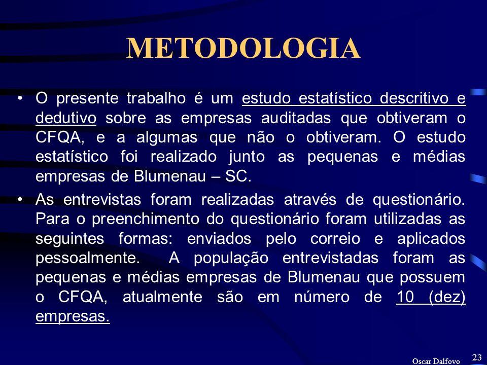 Oscar Dalfovo 22 HISTÓRICO As questões avaliadas pela Comissão de Certificação, e a sua pontuação, abrangem os seguintes temas: Pontos Poluição hídric