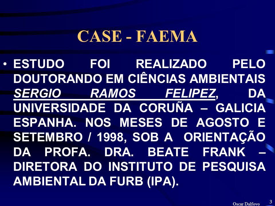 Oscar Dalfovo 2 CASE - FAEMA ESTUDO DA RESPOSTA EMPRESARIAL AO CERTIFICADO DE QUALIDADE AMBIENTAL DA FUNDAÇÃO MUNICIPAL DE MEIO AMBIENTE DE BLUMENAU (FAEMA).
