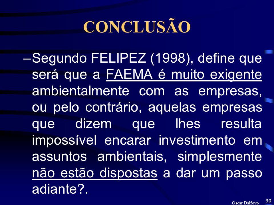Oscar Dalfovo 29 RESULTADO –Sobre os investimentos, os resultados apontados pelo FELIPEZ (1998), identificou que algumas empresas consideram impossíve