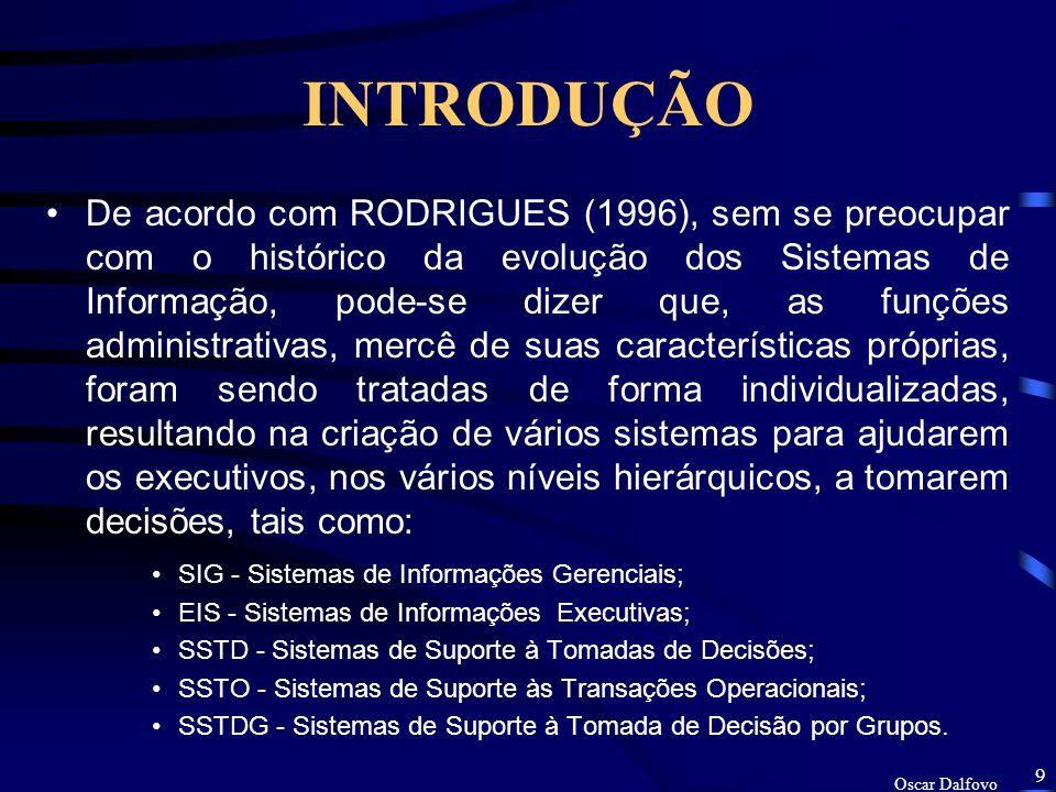 Oscar Dalfovo 8 INTRODUÇÃO As empresas estão assumindo uma nova postura, uma nova responsabilidade sobre o Meio Ambiente.