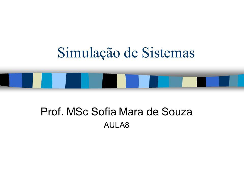 Simulação de Sistemas Prof. MSc Sofia Mara de Souza AULA8