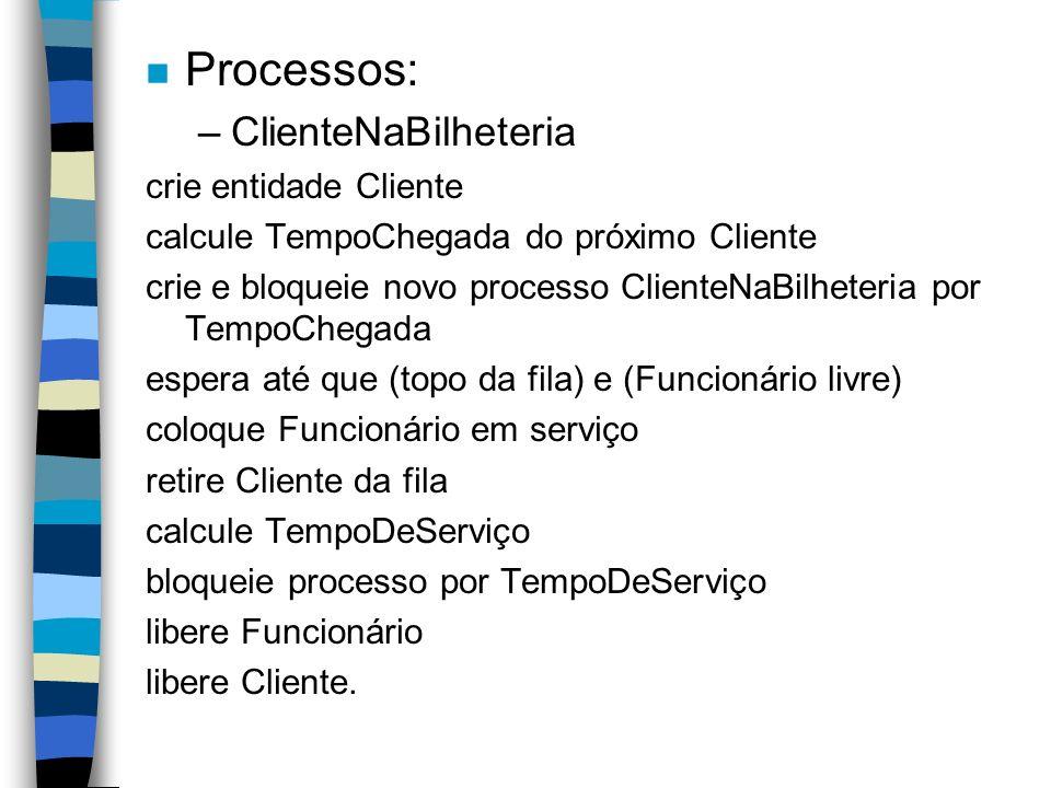 Exercício: 1) Especifique em pseudo-código o processo para a entidade Telefonema.