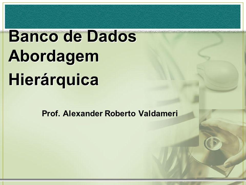 Prof. Alexander Roberto Valdameri Banco de Dados Abordagem Hierárquica