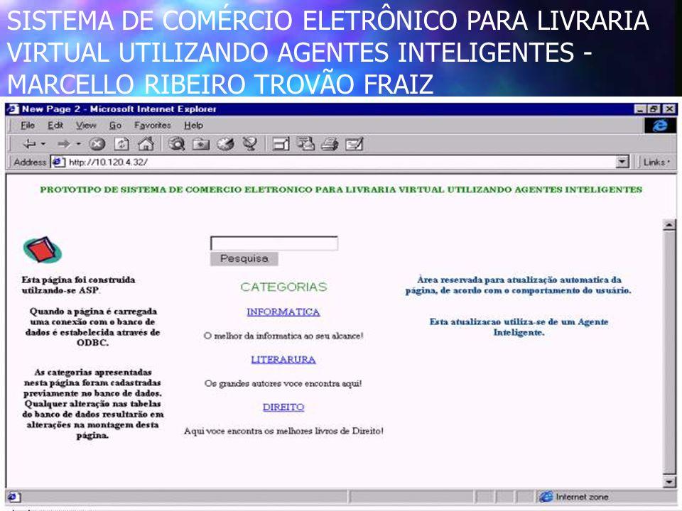 CEPTCC - Ana 4 SISTEMA DE COMÉRCIO ELETRÔNICO PARA LIVRARIA VIRTUAL UTILIZANDO AGENTES INTELIGENTES - MARCELLO RIBEIRO TROVÃO FRAIZ