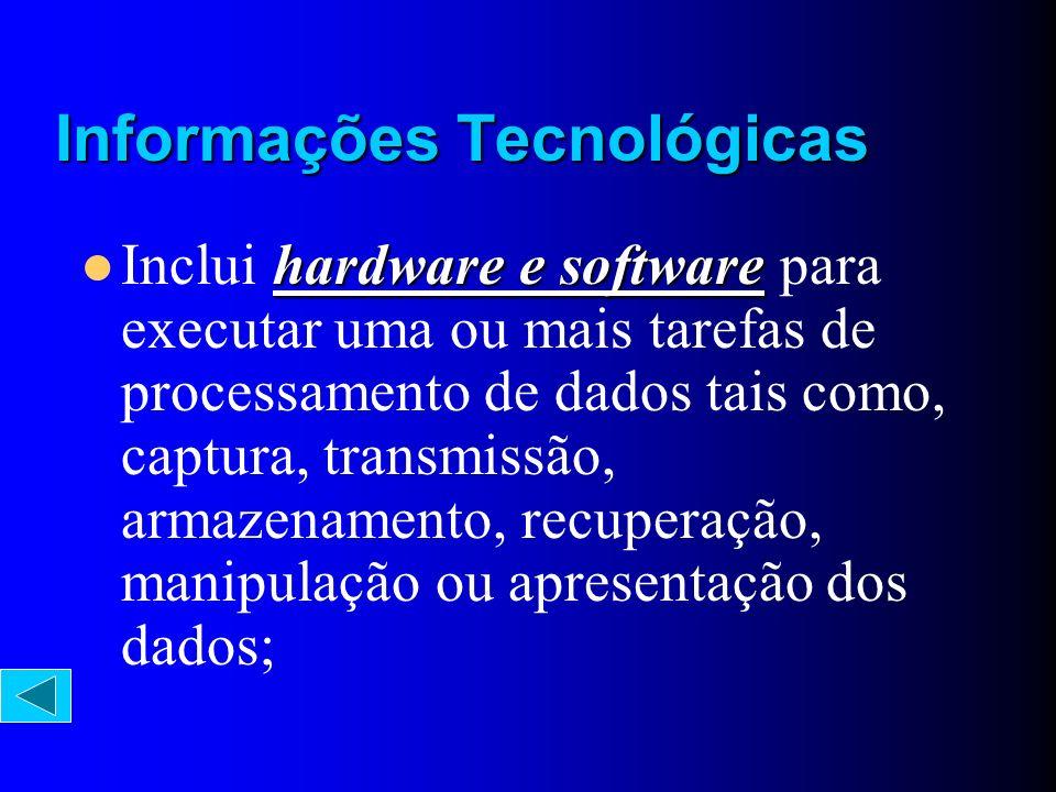 hardware e software Inclui hardware e software para executar uma ou mais tarefas de processamento de dados tais como, captura, transmissão, armazename