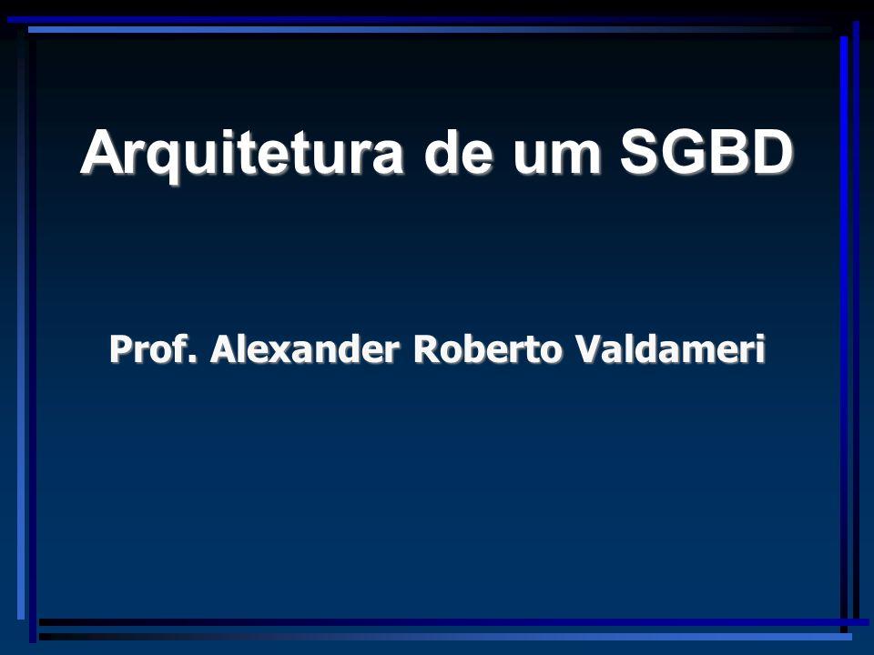 Prof. Alexander Roberto Valdameri Arquitetura de um SGBD