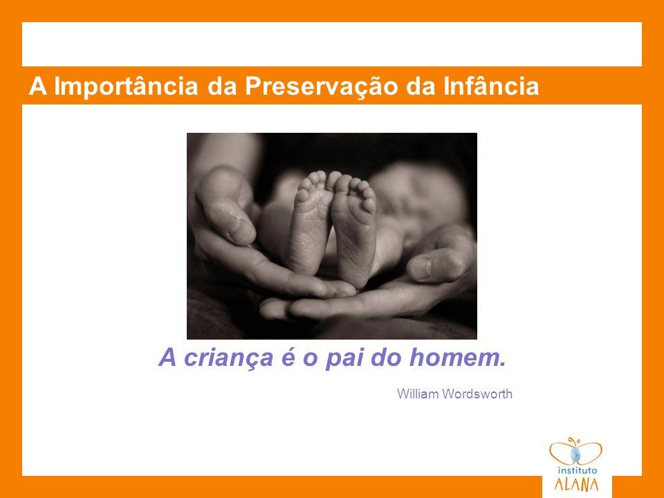 A Importância da Preservação da Infância A criança é o pai do homem. William Wordsworth