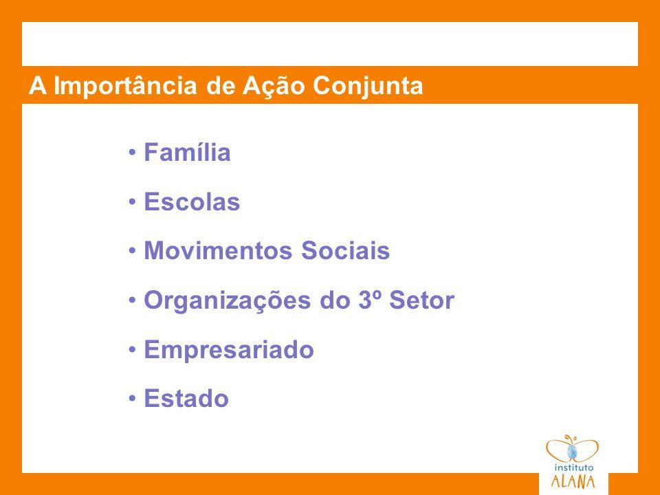 A Importância de Ação Conjunta Família Escolas Movimentos Sociais Organizações do 3º Setor Empresariado Estado