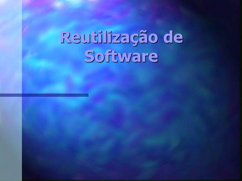 Introdução Reutilização de software é Reaplicação de informações e artefatos de um sistema já definido, em outros sistemas semelhantes