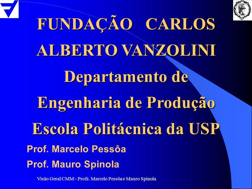 Visão Geral CMM - Profs. Marcelo Pessôa e Mauro Spinola FUNDAÇÃO CARLOS ALBERTO VANZOLINI Departamento de Engenharia de Produção Escola Politácnica da