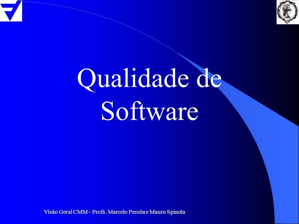 Visão Geral CMM - Profs. Marcelo Pessôa e Mauro Spinola Qualidade de Software